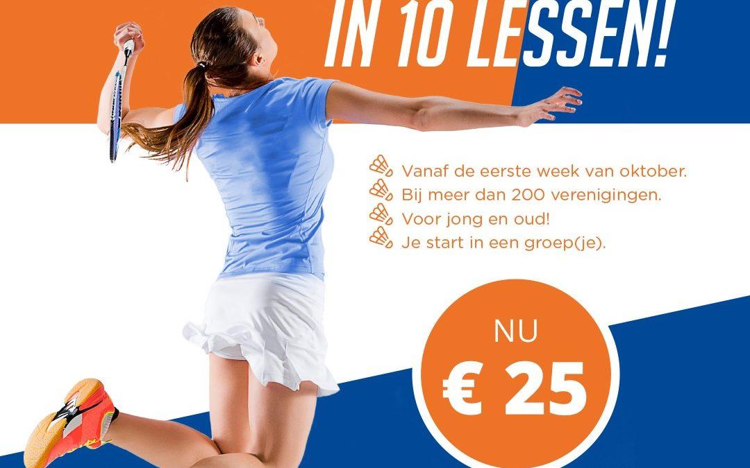 Probeer badminton bij BV Houten!